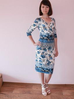 Работа с названием платье из трикотажа