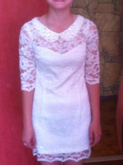Работа с названием Платье на выпускной сестренке 9 класс