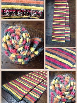 Работа с названием Полосатый шарф