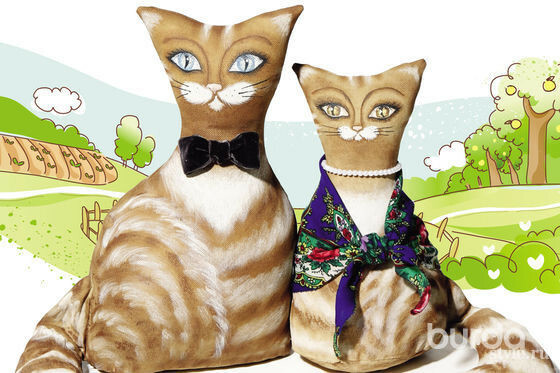 Тряпичные котики