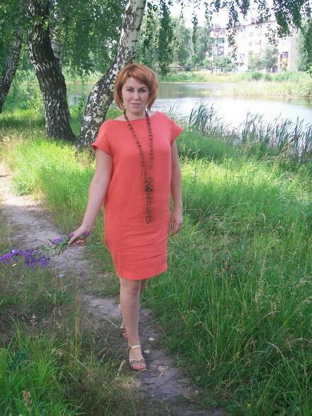 Платье встиле рустик.