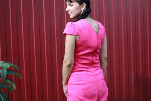 Розовый комбинезончик, собирала подеталькам. от Ольга Викторовна К