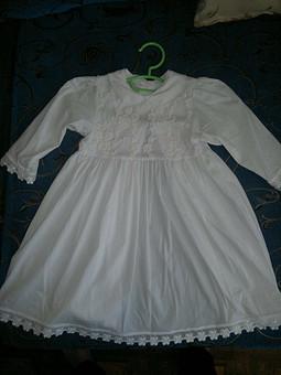 Работа с названием платье для крестницы