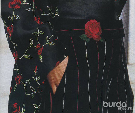 Розы наодежде иаксессуарах