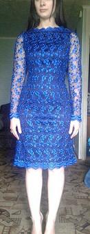 Работа с названием Аквамариновый праздник - платье из гипюра