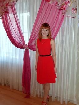 Работа с названием Моё алое платье