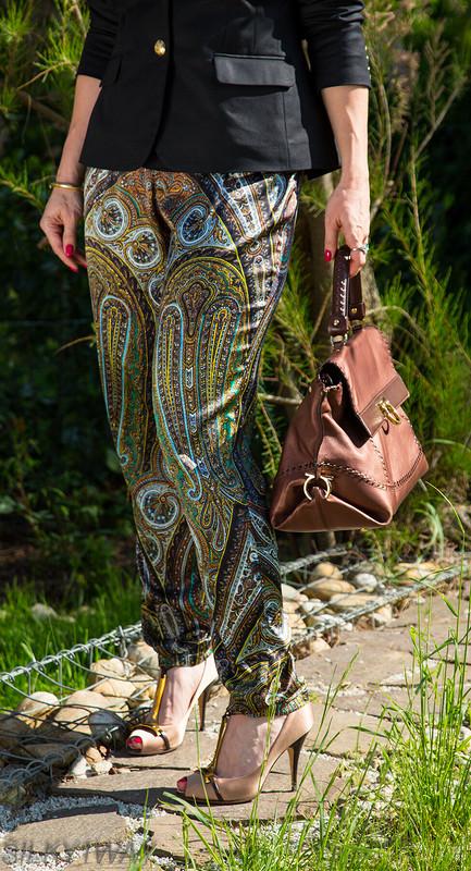 Шелковые брюки изткани Etro от silky1way
