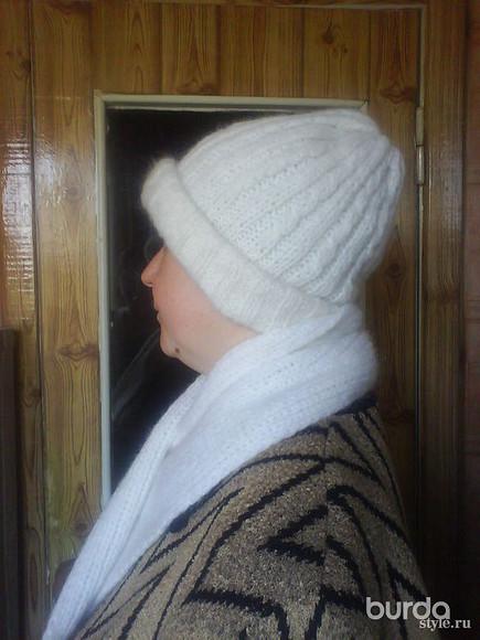 Комплект издвойной шапки ишарфа