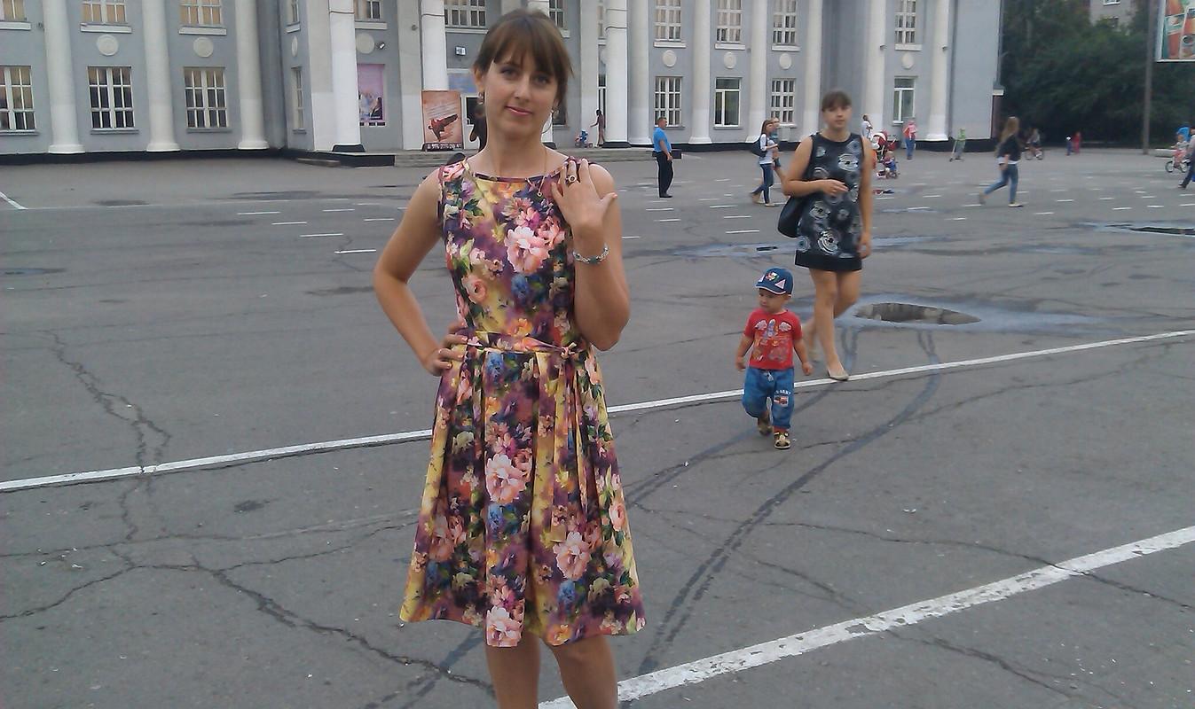 цветочное платье от Елена милая