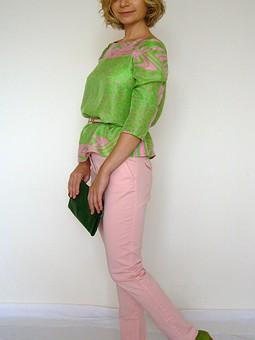 Работа с названием шелковая блузка-реглан