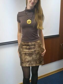 Работа с названием Леопардовая мини-юбка