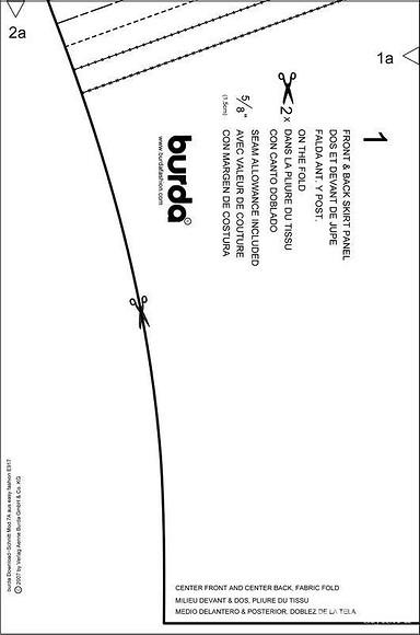 Юбка-баллон – бесплатная выкройка