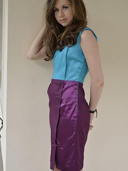 Работа с названием Яркое платье для молодой и успешной
