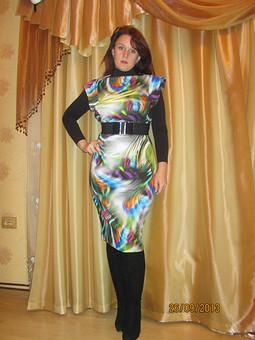 Работа с названием Платье-радуга