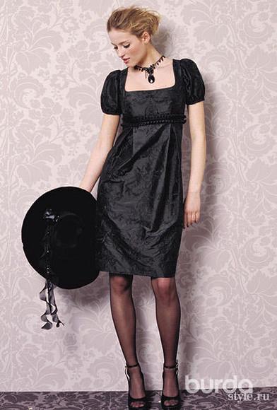 Черное платье – бесплатная выкройка