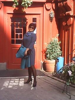 Работа с названием Платье под пальто.