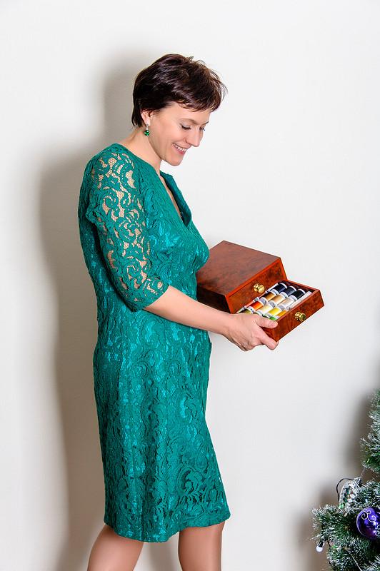 Двуслойное платье от politu