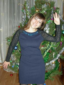 Работа с названием Мое синее платье