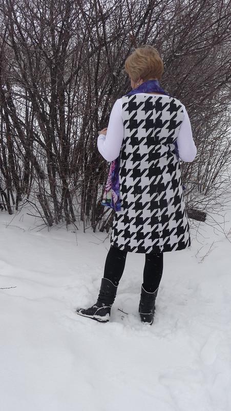 Ч/Б платье вОГРОМНУЮ  клетку