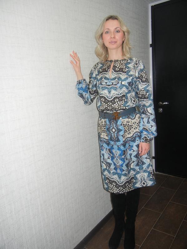 Платье Голубая  Мозаика. от Юля86