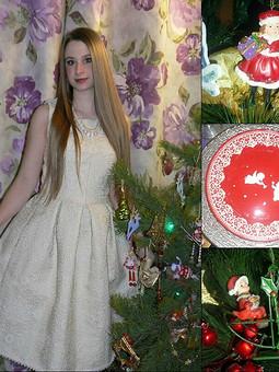Работа с названием Новогоднее платьице)