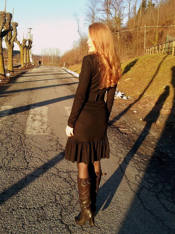 Платье сперекрутом от Rosso relativo