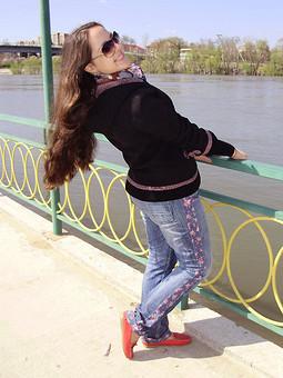 Работа с названием Переделка старых джинс)