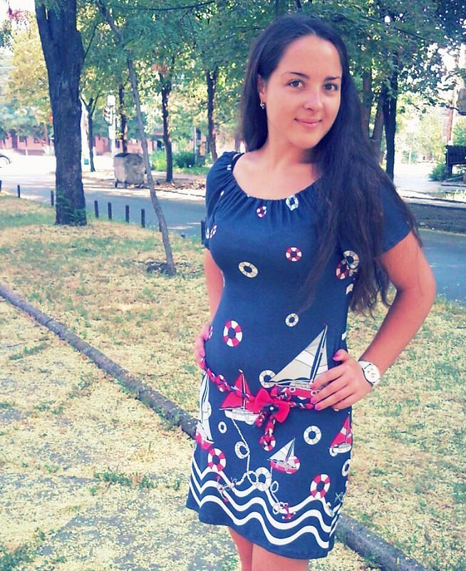Трикотажное летнее платье от Анастасия Анастасия