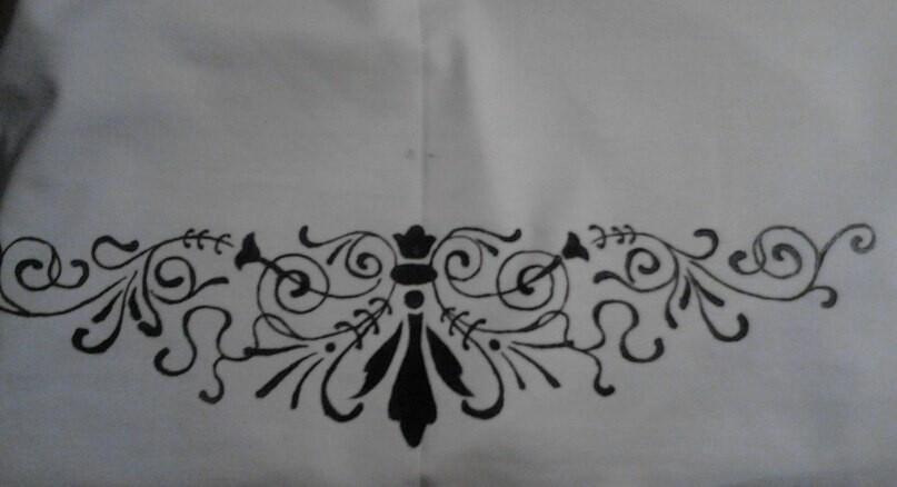 Мой первый опыт росписи поткани