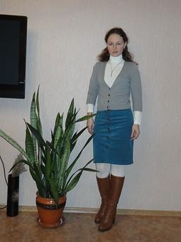 Работа с названием Любимая юбка