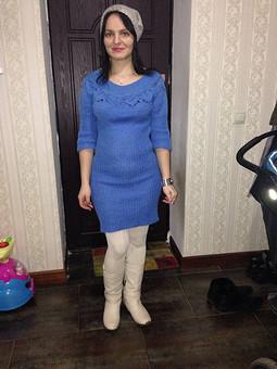 Работа с названием Вязаное платье