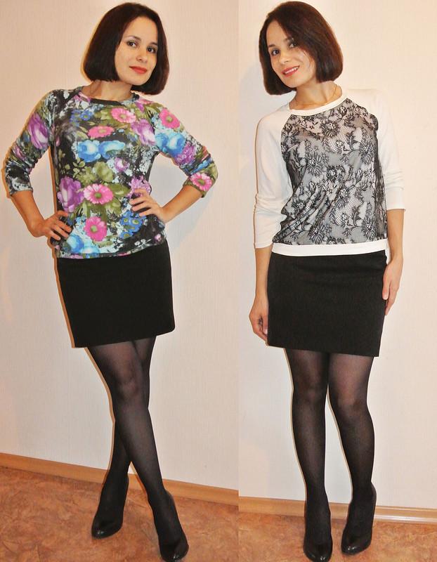 Два свитшота повыкройке ноябрьского платья))
