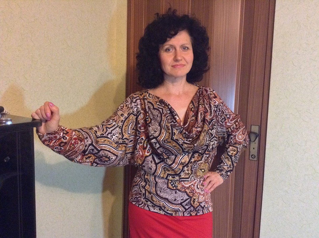 Блузка сдрапировкой