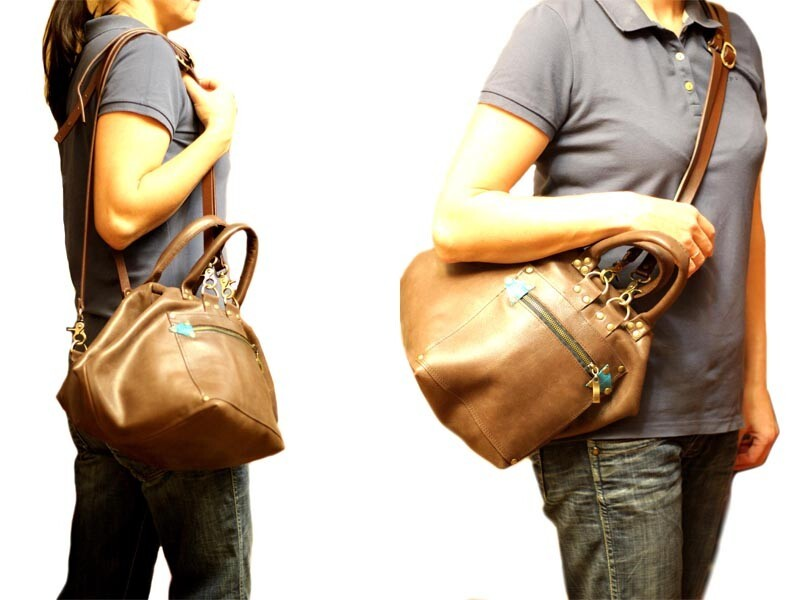 Кожаная сумка-рюкзак «Путешествие»
