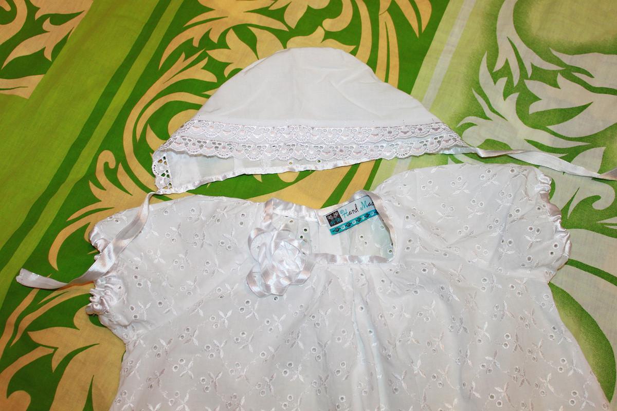 Крестильное платье ичепчик