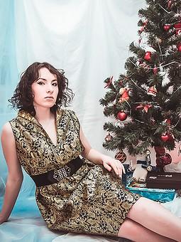 Работа с названием Мое новогоднее платье