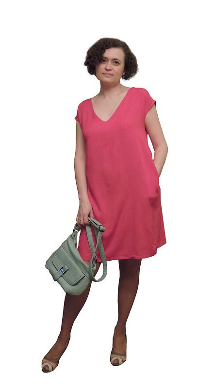 Платье фуксия от Малика К