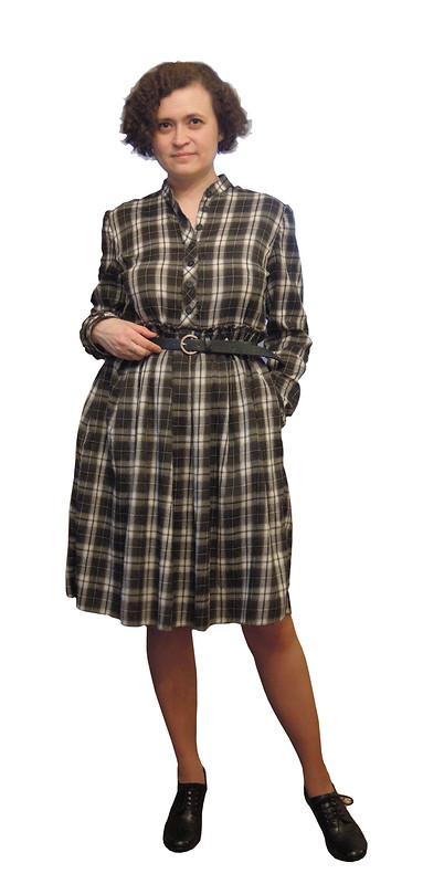Платье вклетку от Малика К