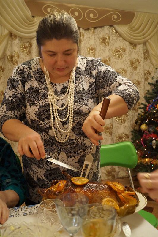Платье наРождество иРождественская утка от Luba2012