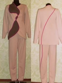 Работа с названием комплект:жакет и брюки