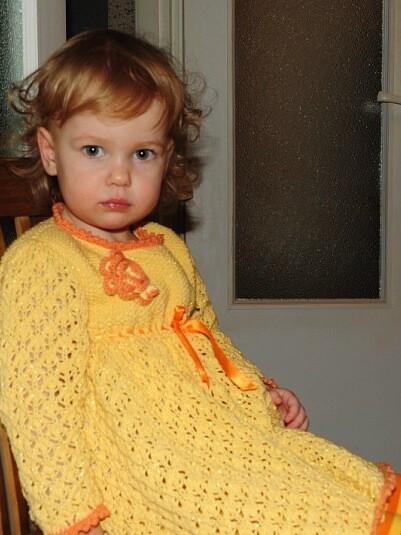 Вязаное платьице от Myshka