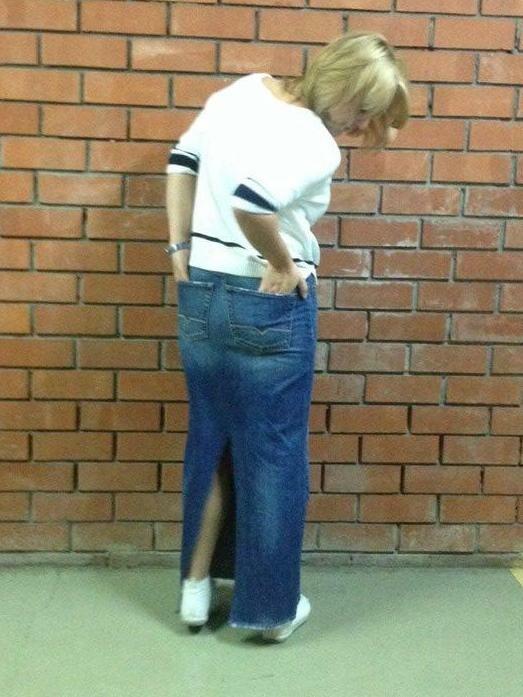 Юбка изджинсов