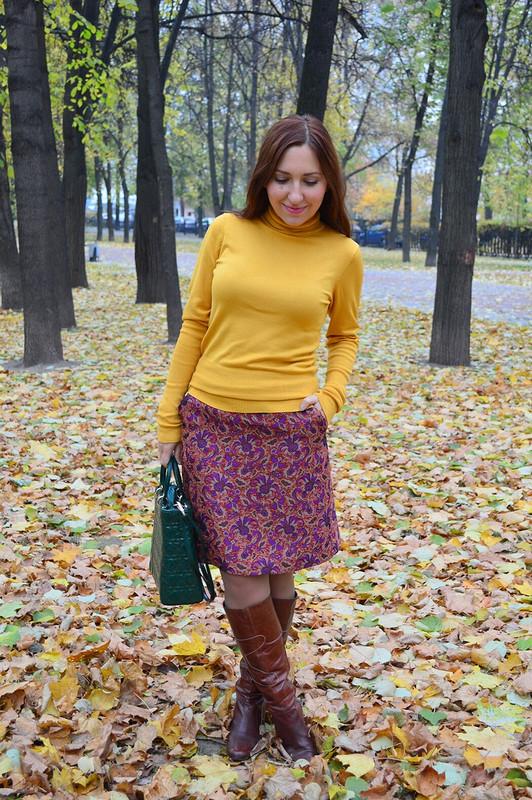 Жаккардовая юбка