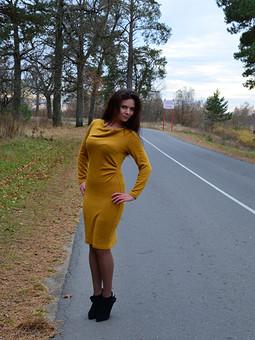 Работа с названием Платье цвета осени