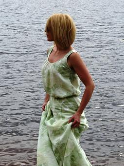 Работа с названием Платье из льна