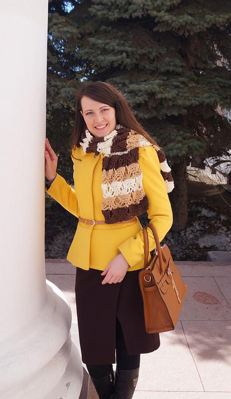 Яркое пальто или осенний листочек