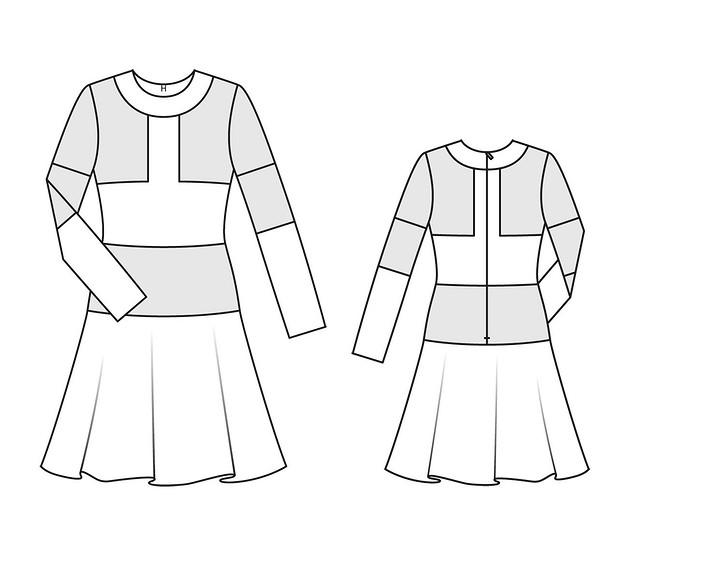 Платье сграфичным дизайном