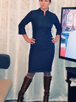 Работа с названием Простое джинсовое платье