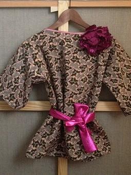 Работа с названием платье-туника в стиле кимоно