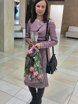 Работа с названием платье -качелька розовенькое